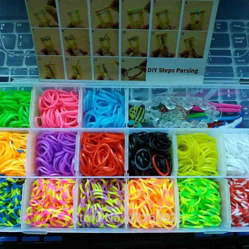 Elastic Rubber Loom Bands, Diy Tool Set