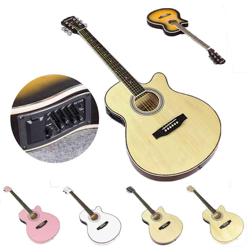 Electric Acoustic 6-string Folk Pop Guitar