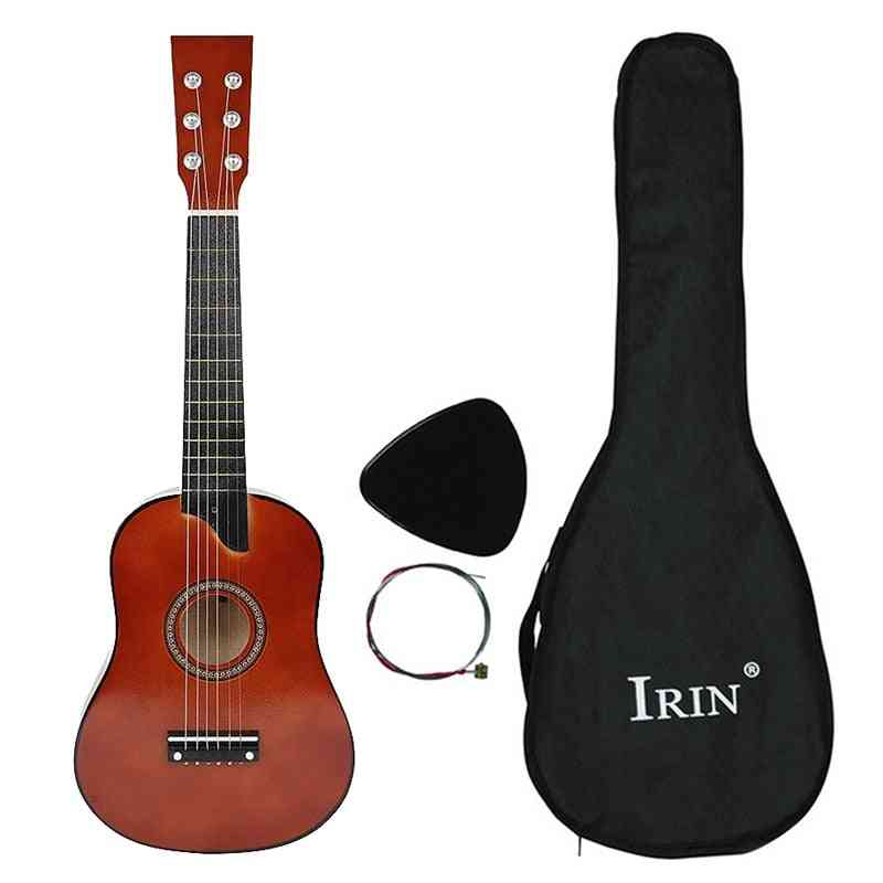 25 Inch Basswood - 6-strings Acoustic Guitar With Pick And Strings