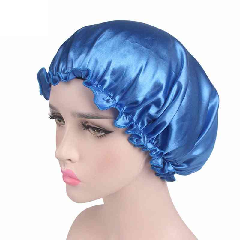 Satin Lace Sleeping Lined Night Hat