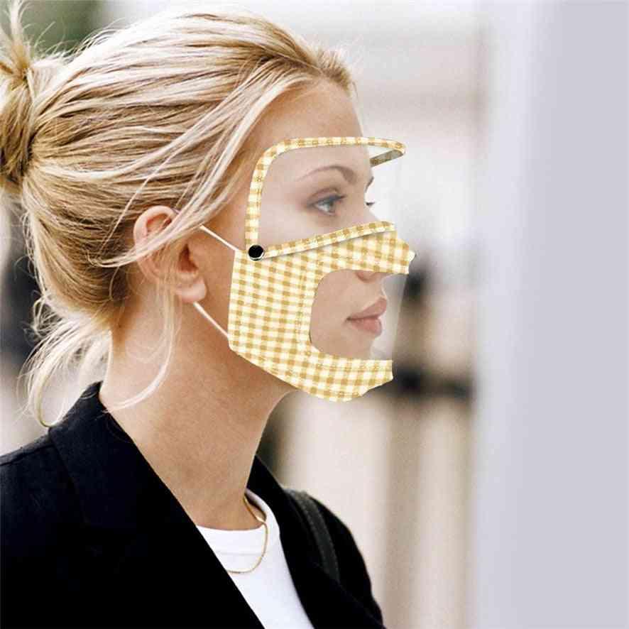Women Printed Lip Language Visual Shield Splash Face Protector