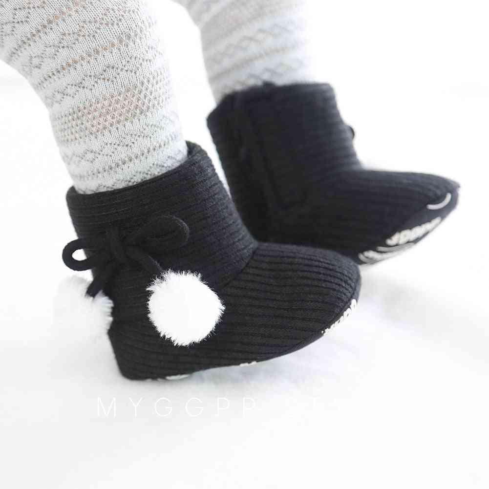 Winter Walk Shoes Boy &, Soft Sole Snow Boots
