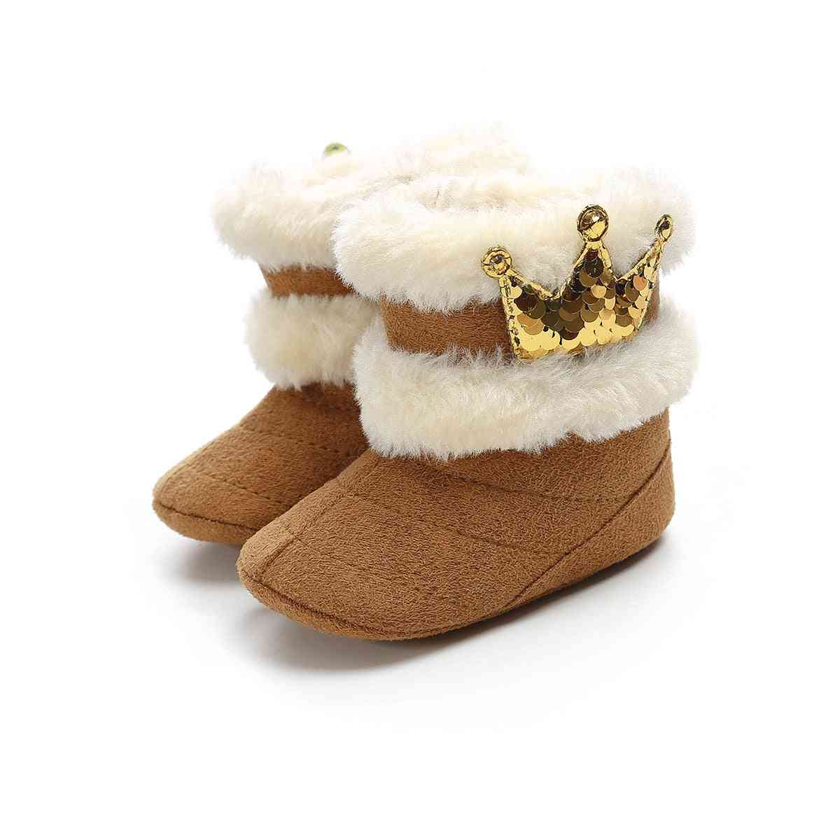 Baby Snow Boot, Autumn & Winter Warm Plush Christmas Shoes
