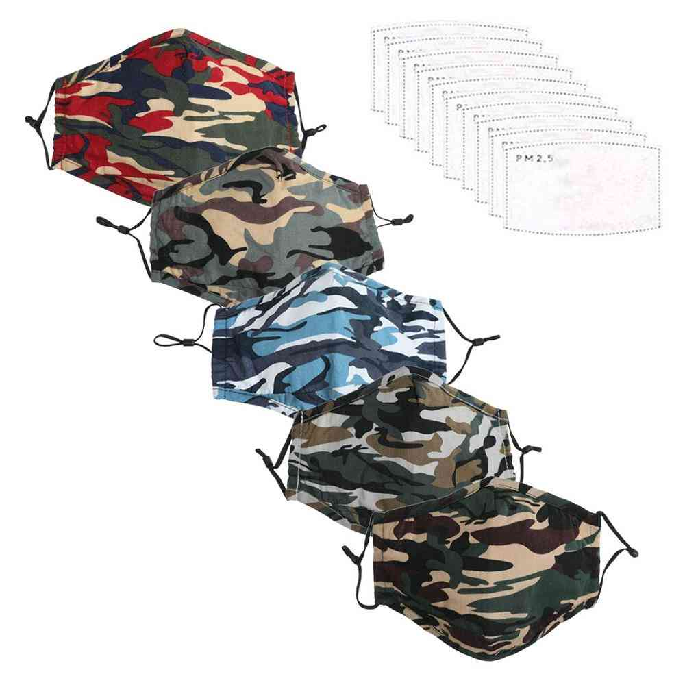 Mouth Mask With Filter, Washable Fabric Dustproof / Outdoor Protection