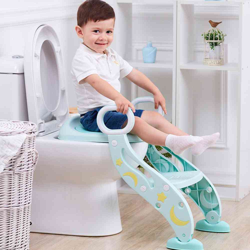 Potty / Toilet Trainer Seat With Step Stool And Ladder