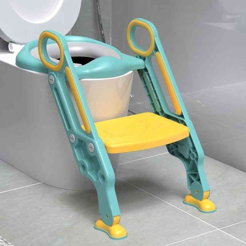 Foldable And Adjustable Potty Training Step Stool With Ladder