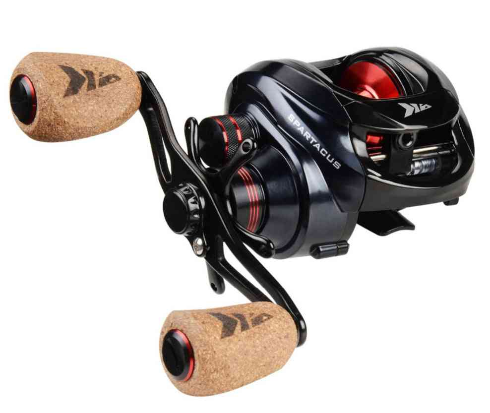 Fishing Bait Casting Reel With Dual Brake System, 8kg-max Drag