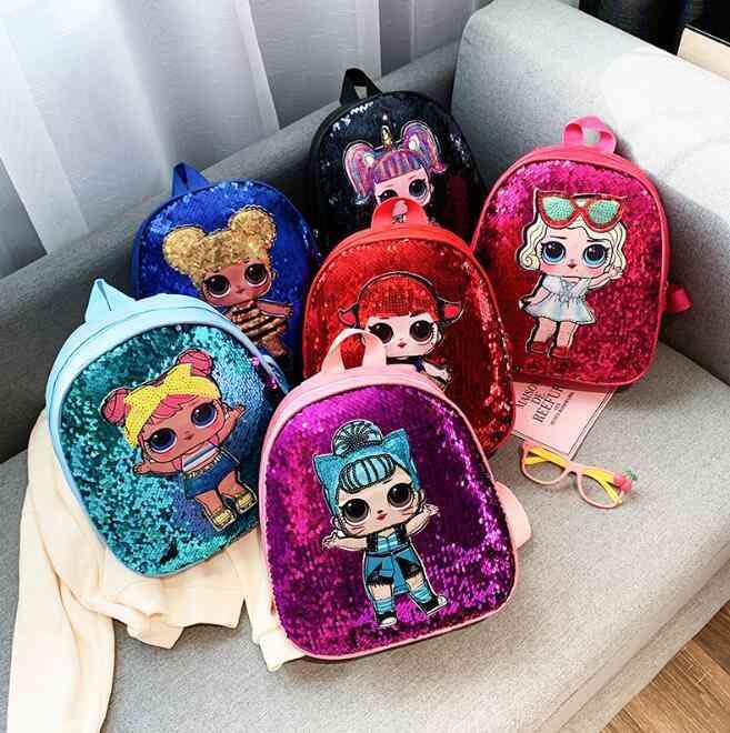 Children's School Cute &shinning Bag, Cartoon Anime Print Backpack