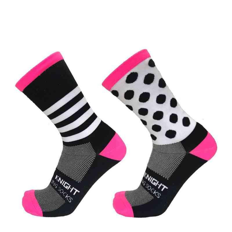 Stripe And Dot Pattern Sports Socks