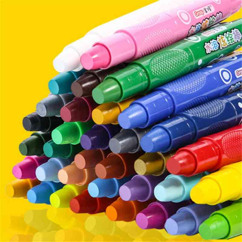 Water Soluble Crayons -bright Stick With 48 Colors