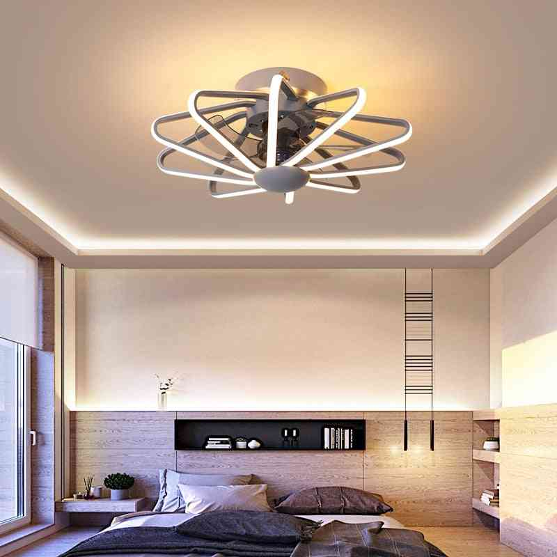 Led Ceiling Fan With Lights, Remote Control Ventilator Lamp