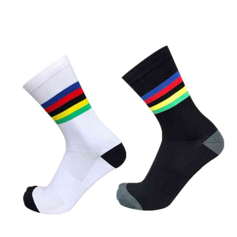 Rainbow Strips Sports Socks