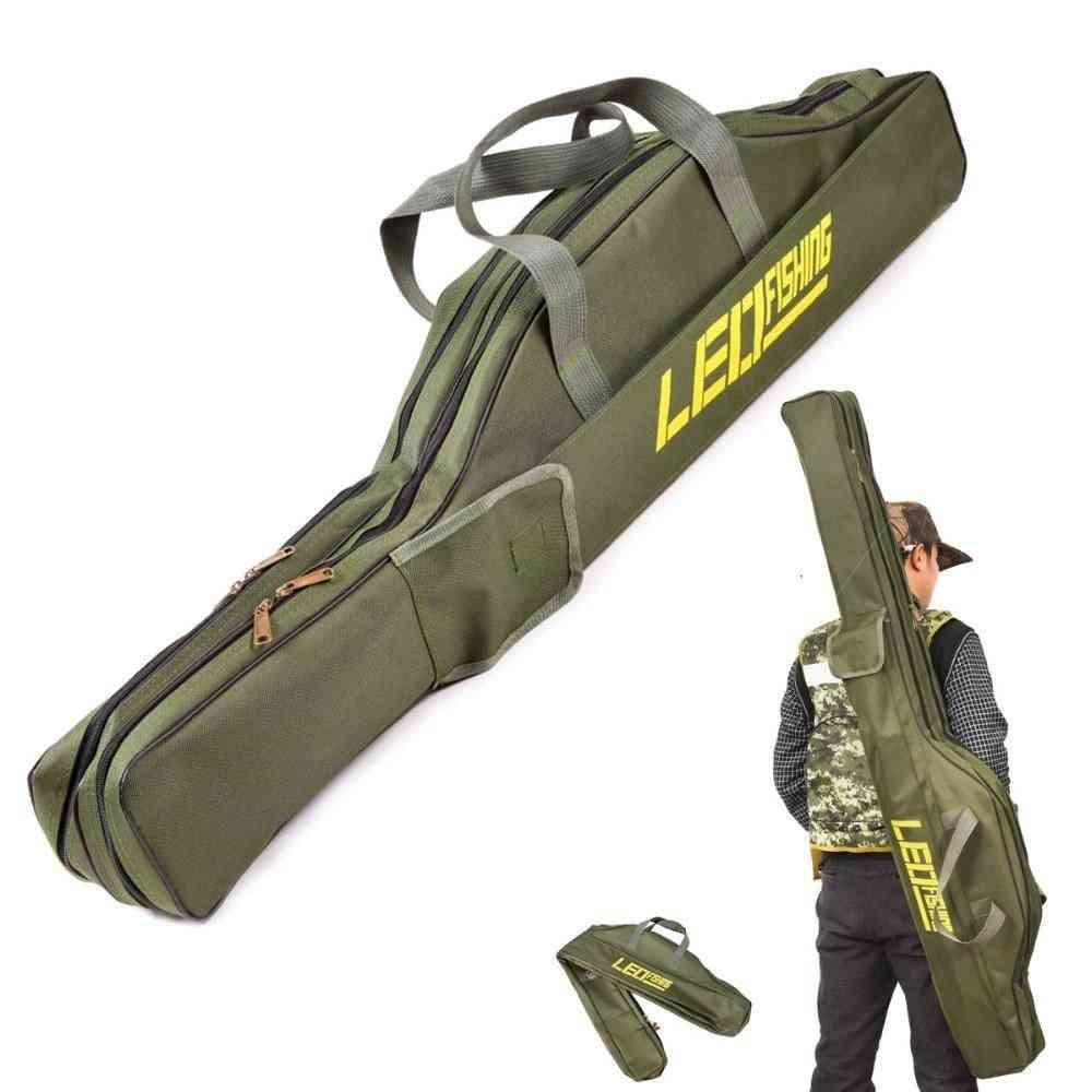 Portable Foldable Fishing Rod Carrier Fish Pole Tools, Storage Bag / Case