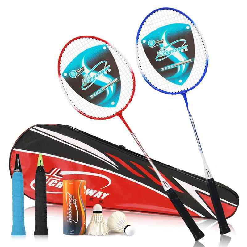 Professional Badminton Rackets Set, Including Shuttlecock Racket Bag And Matching Grip