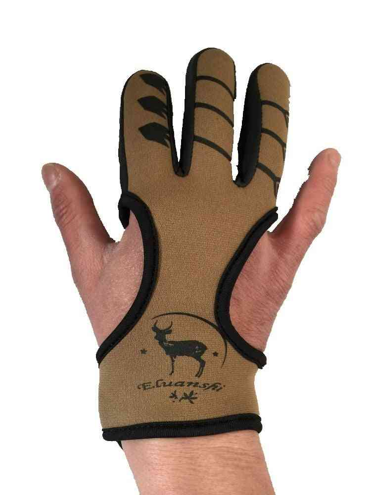 Finger Protective Leather Glove For Arrow/bow Shooting, Slingshot Hunting