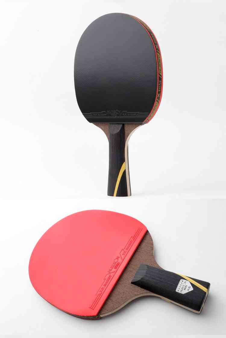 Double Face Pimples-in, 2 Layer Carbon Fiber Racket Set