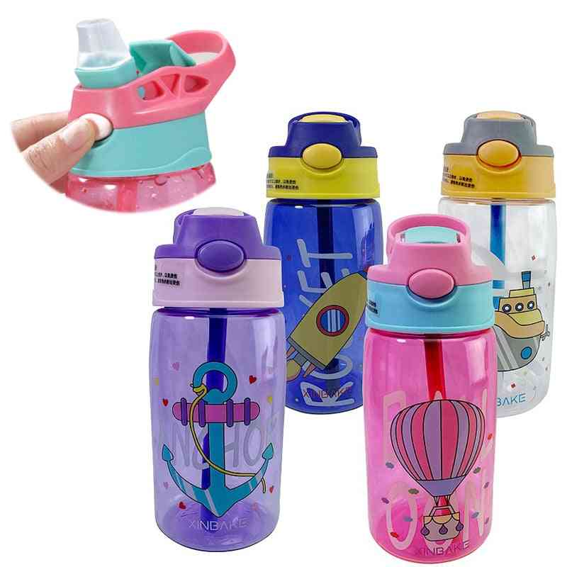 Water Bottle With Cups And Straws