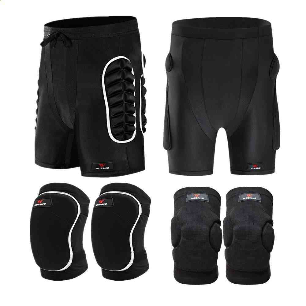 Thick Eva Protection Pad Skateboarding Shorts, Roller Hockey Butt Hip Protector Motorcycle Mtb  Pants