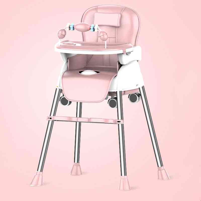 Adjustable And Portable Kids Multifunctional High Chair With Tray Table For Eating