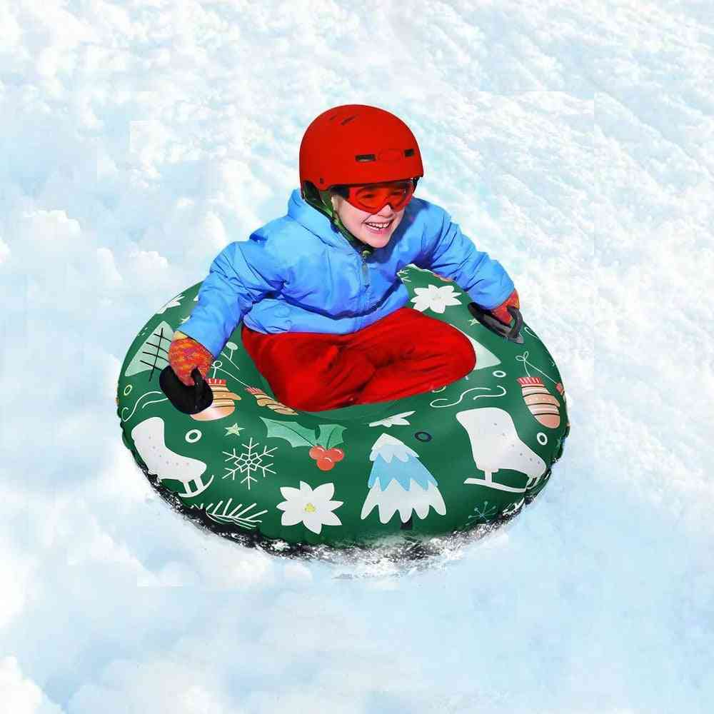 Inflatable Pvc Tube With Handle- Durable Skiing Accessories