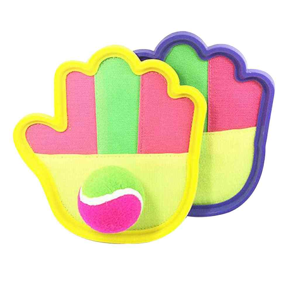 Creative Durable Toss And Catch Game Set-sticky Ball Sucker Gloves