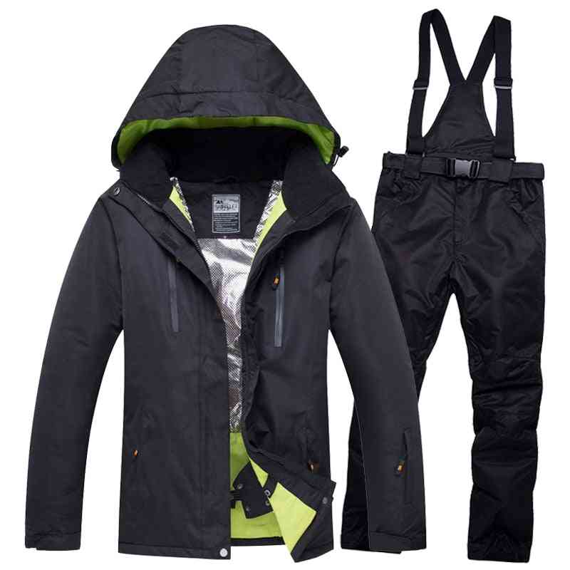 Men & Women Waterproof Thermal Snow Pants Sets, Skiing And Snowboarding Ski Suit Jackets