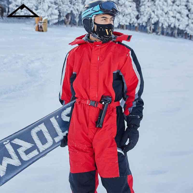 Hoodie Snow Jumpsuit Sports Winter Men-women's Suit Warm Snowboard Waterproof Clothes