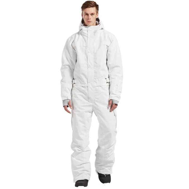 Waterproof, One-piece Skiing Jumpsuit, Winter Clothing