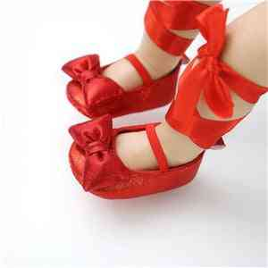 Bowknot Design Baby Girl Shoes For Wedding, Princess Party