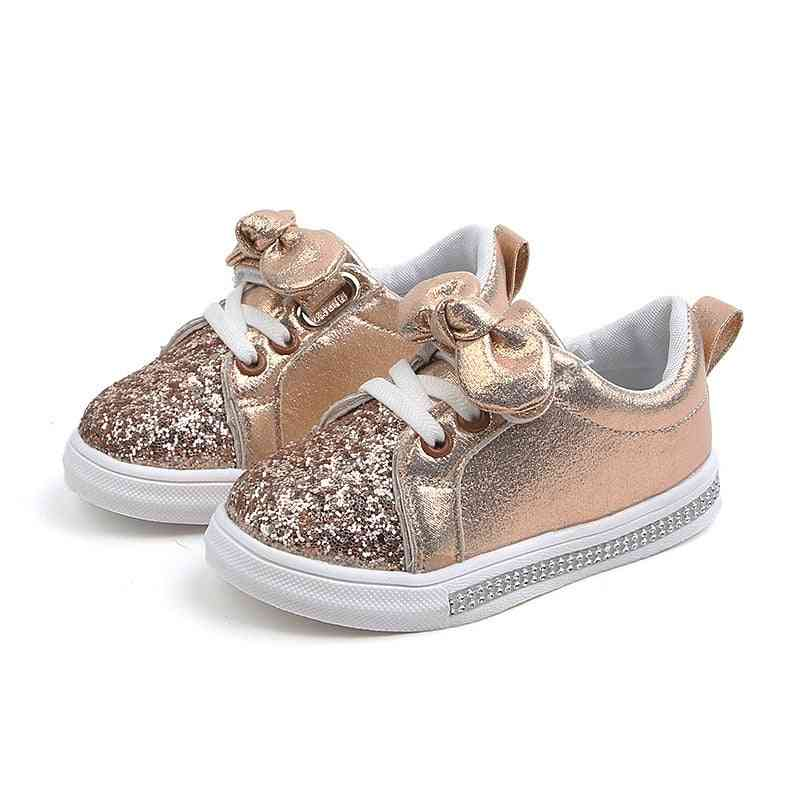 Baby Sequins Bowknot Crystal Run Sport Sneakers Shoes For