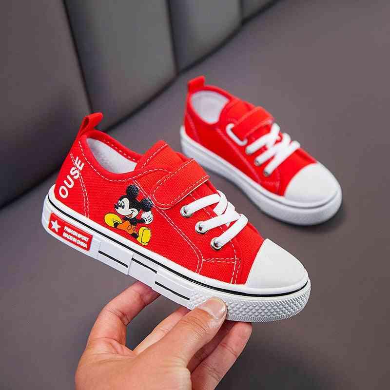 Spring & Autumn Canvas Shoes, Cartoon Mickey Mouse Girl Shoe