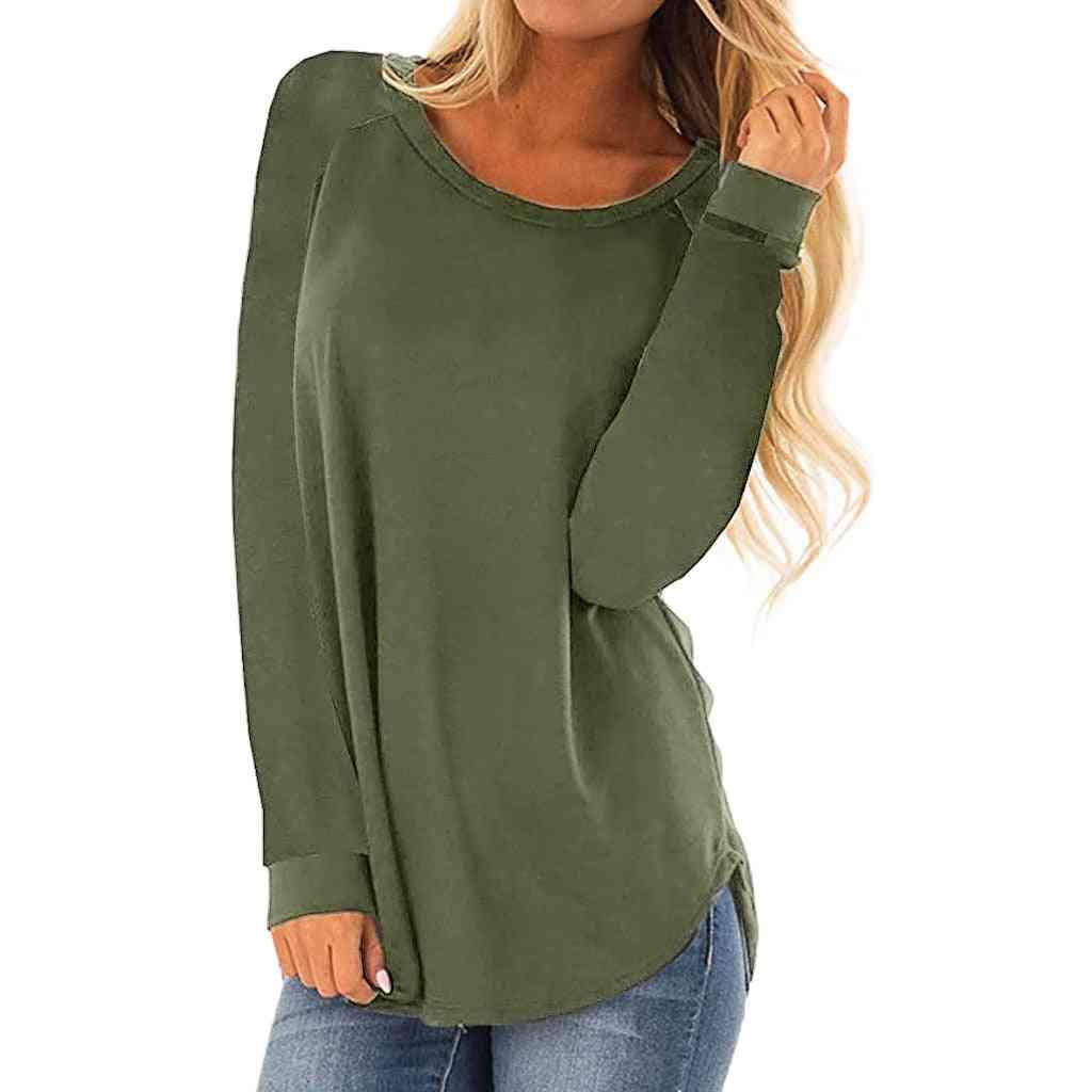 Women O Neck T-shirt, Outdoor Skateboard Long Sleeved Sports Sweater