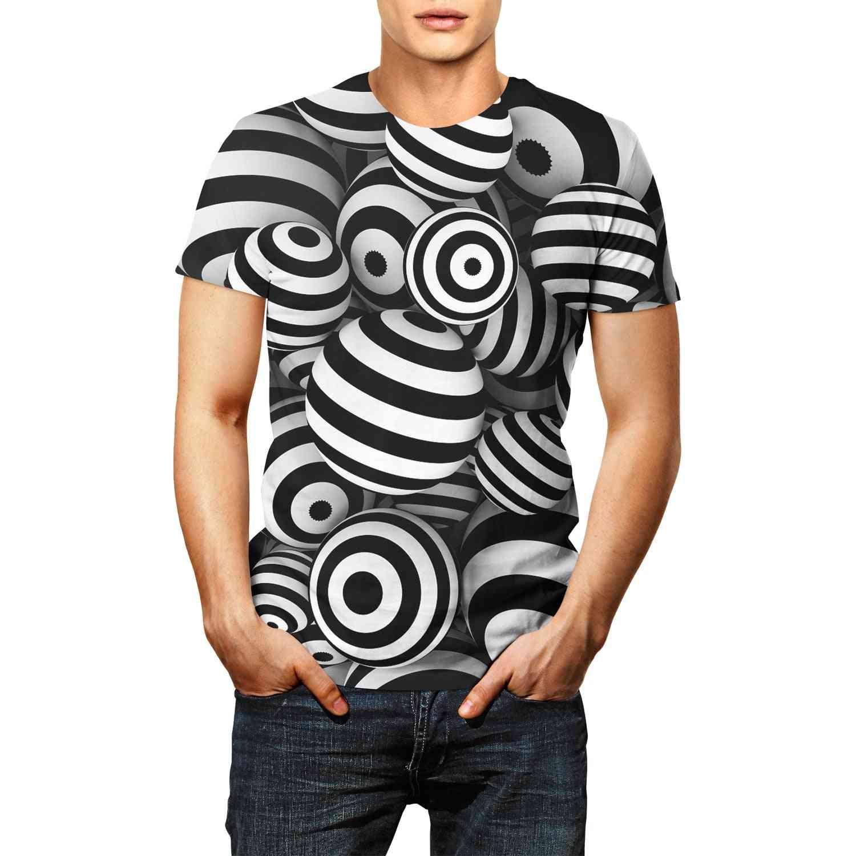 3d Paint T-shirt, Men & Woman Square Short Sleeve Round Neck Tops