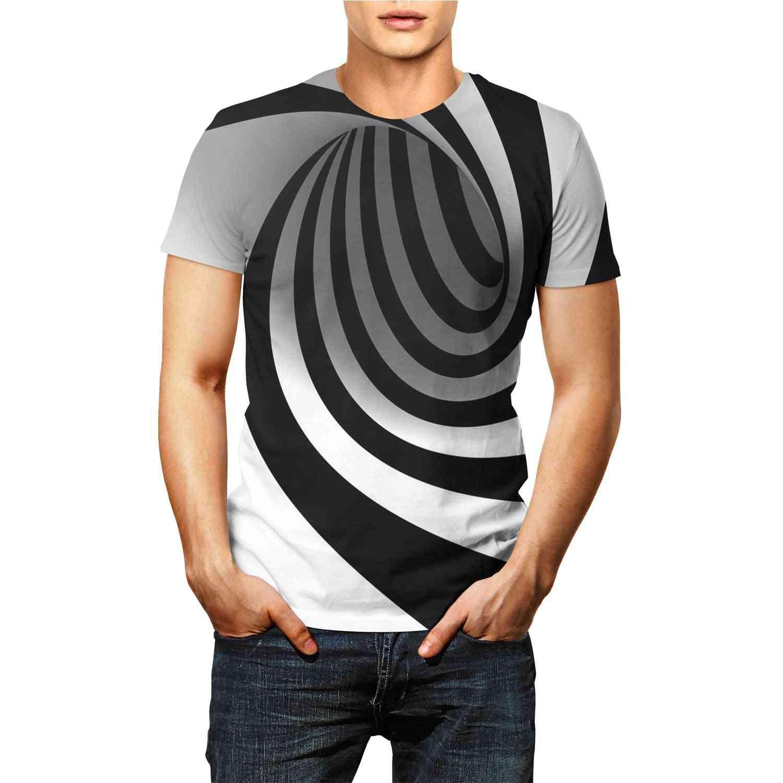 3d Print Tee Shirt Stripe Graphic Short Sleeve Unisex