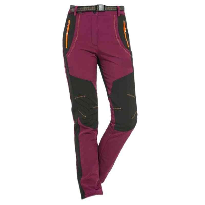 Winter Women Hiking Pants, Softshell Waterproof Windproof Trousers
