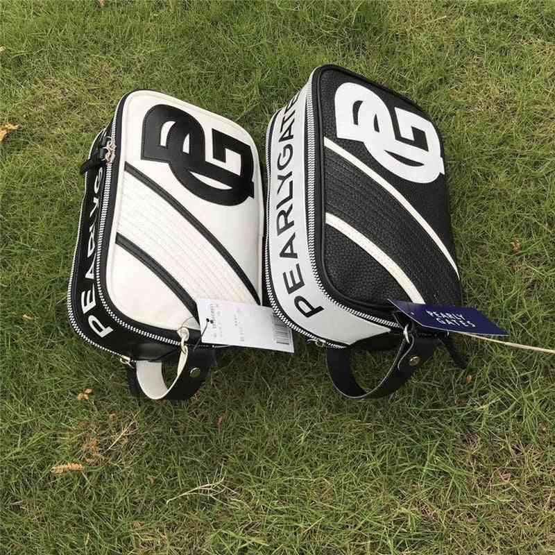 Small Golf Ball Bag - Pearly Gates Pu Leather Golf Bag