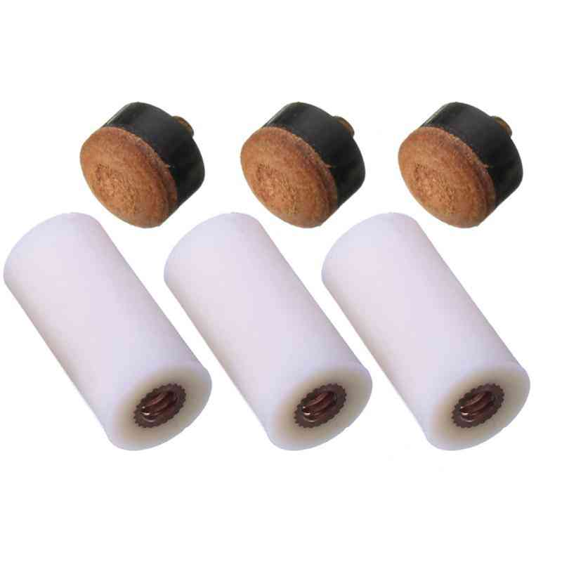 Screw On Cue Tips For Billiard Pool, Stick And Snooker Cue, Replacement Parts, Stick Repair Tool