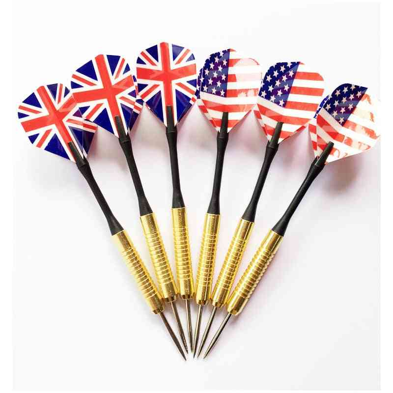 Professional Steel Tip Darts Set With Two-kind Nice Flag, Pattern Tips, Points Needle Darts