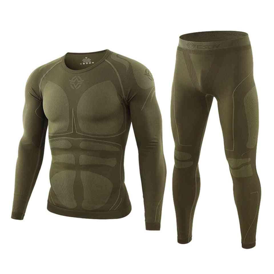 Men Skiing Set Jacket And Pants Thermal Underwear En Quick-dry Skiing