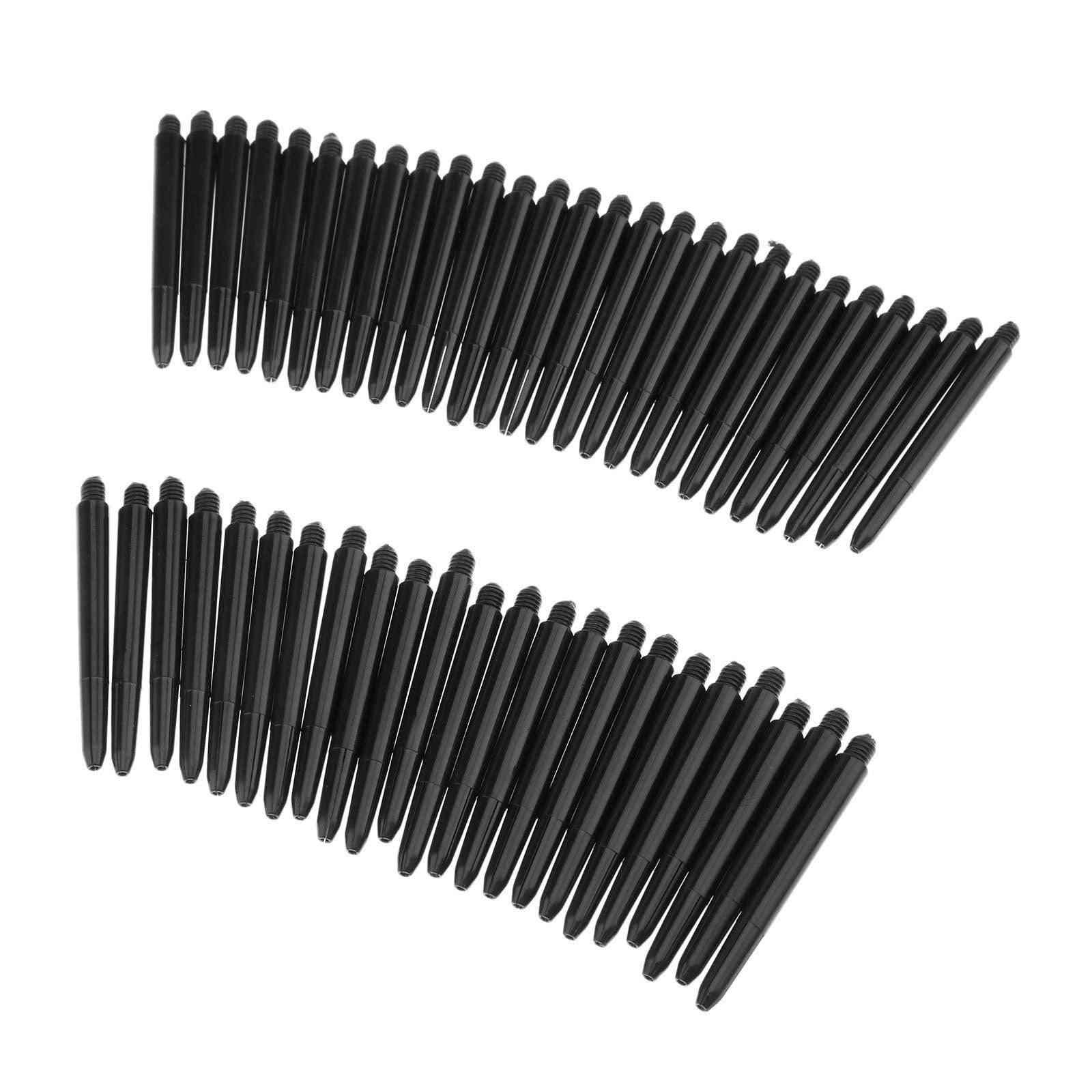 Black Nylon Dart Shafts Screw Thread, Plastic Rod Stems, Darts Accessories