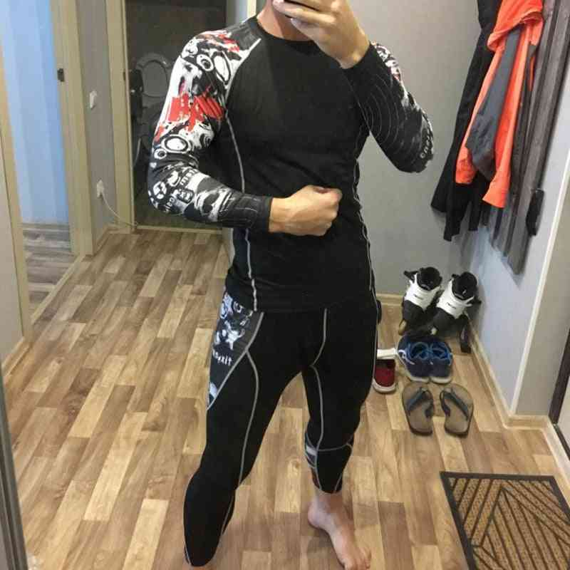 High-quality Men's Thermal Underwear Set, Gym Quick-drying Riding Warm Sport Suit