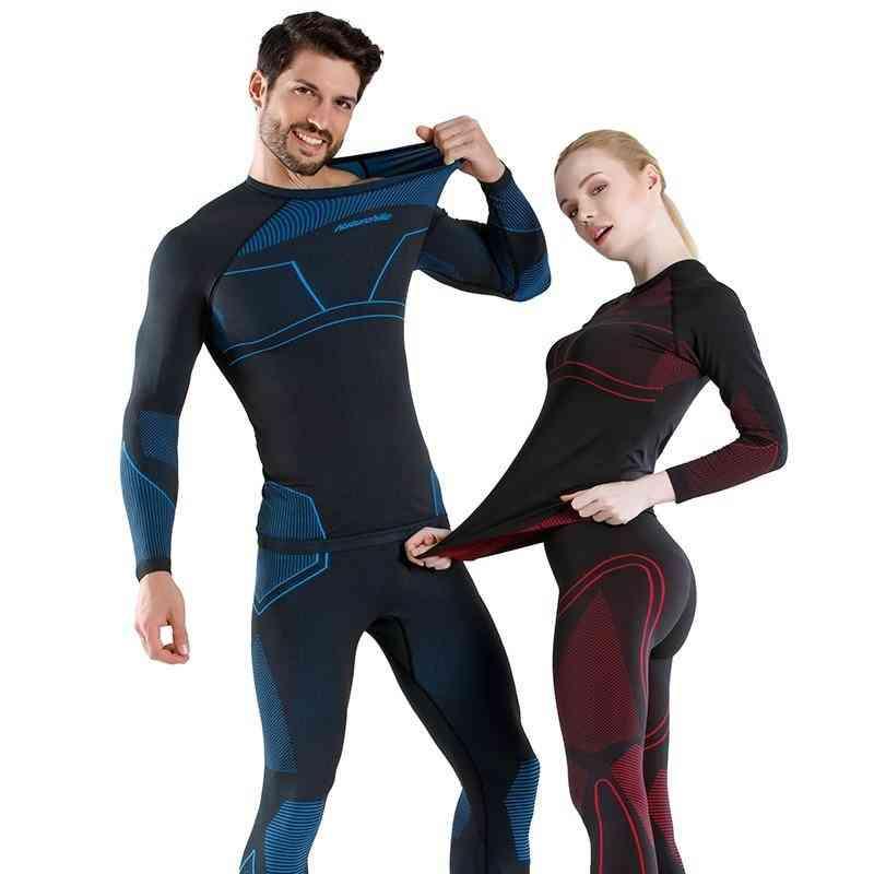 Winter Women-men Snowboard Thermal Underwear, Quick-drying Sports Hiking Shirt/pants Set