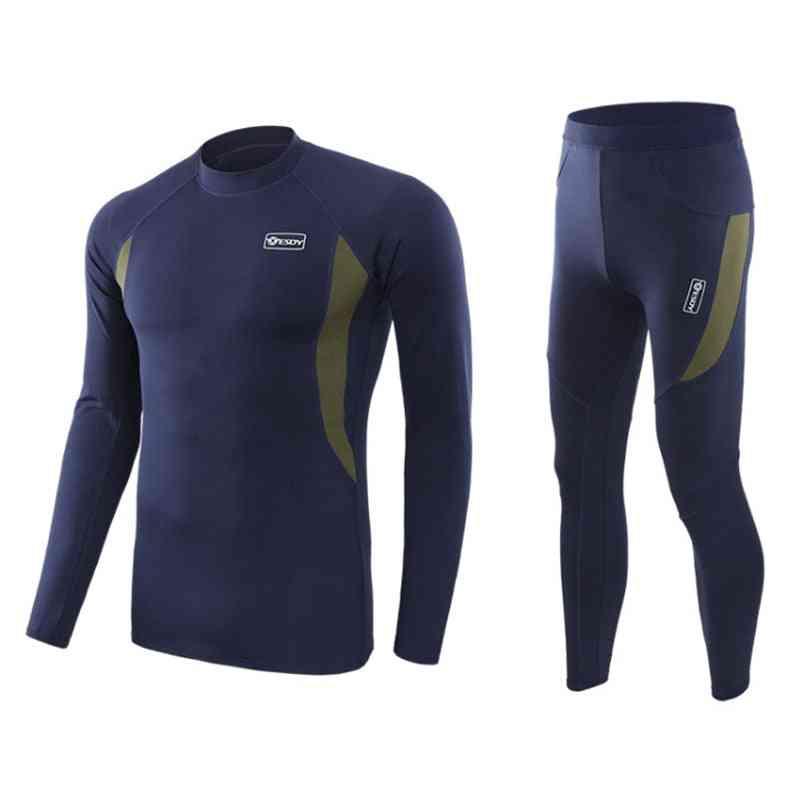 Men Skiing Underwear Set, Quick-dry Jacket/pants For Skiing/hiking/riding