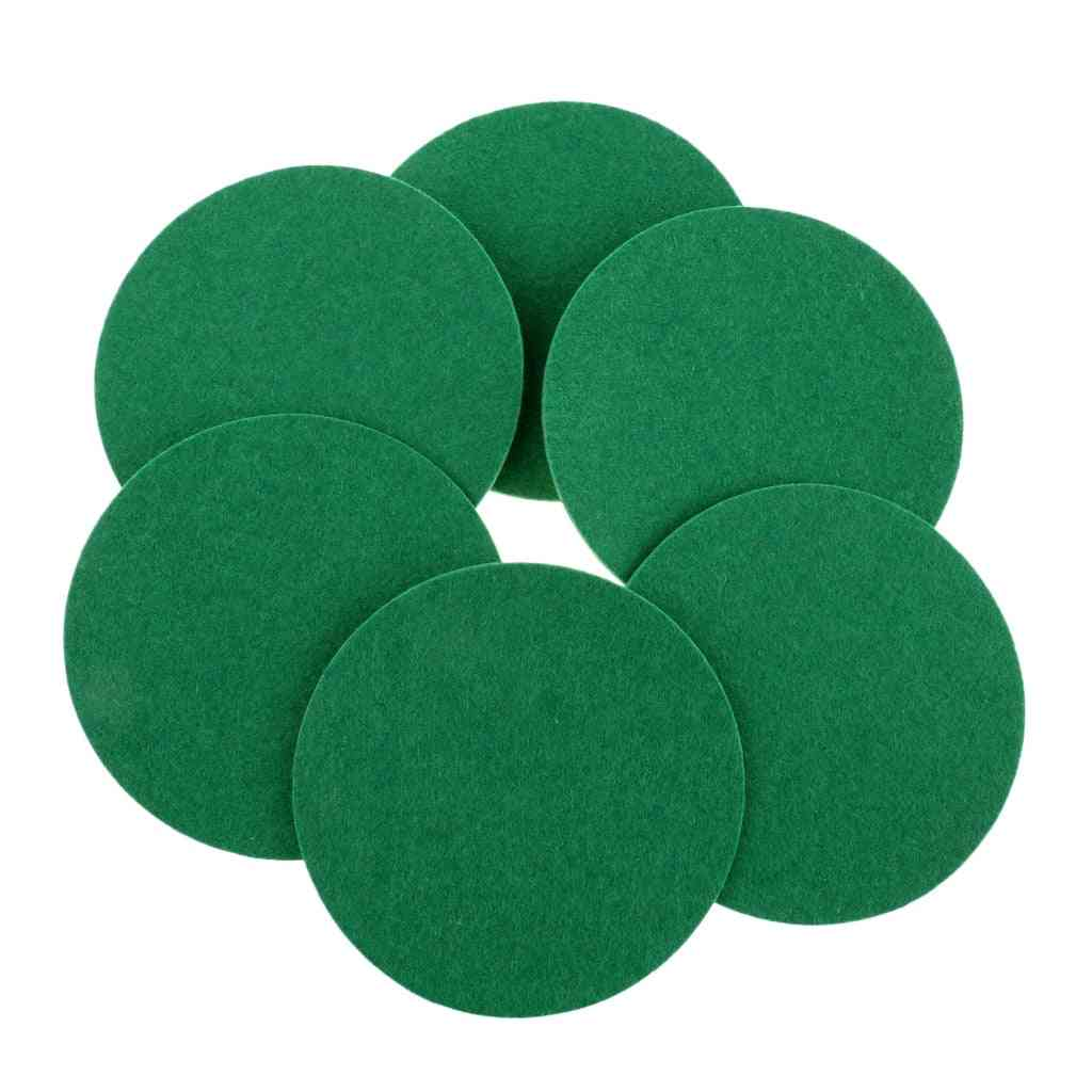 Large Air Hockey Table, Felt Pushers, Replacement Felt Pads Gear