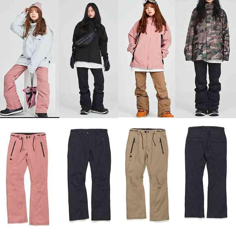 Men And Women, Waterproof, Ski Long Pants With Waist Zipper Pocket