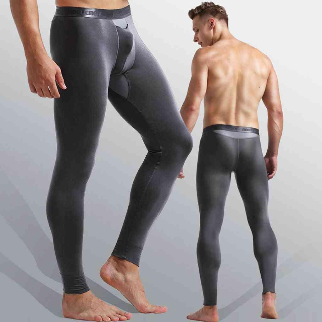 Men Sexy Stretch Breathe Thermal Bullet Legging Separation Slim Long Pants Joggers Streetwear