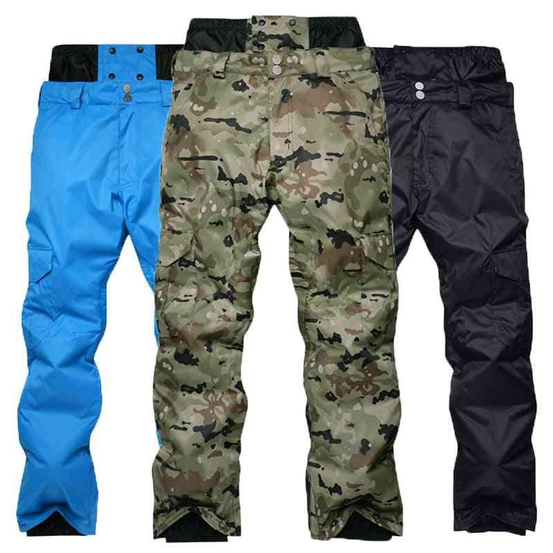 Men's Snowboarding Pants Winter Outdoor Windproof Waterproof Warming Thicker High - Waist Ski Pants