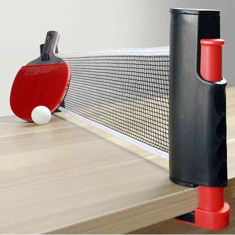 Portable Retractable Table Tennis Net And Clamp