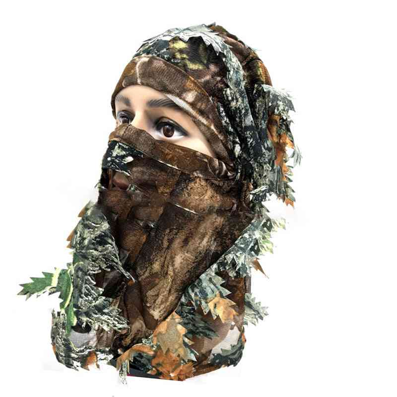 Tactical Elastic Breathable Lightweight Hunting Mask, Outdoor 3d Camouflage Hood