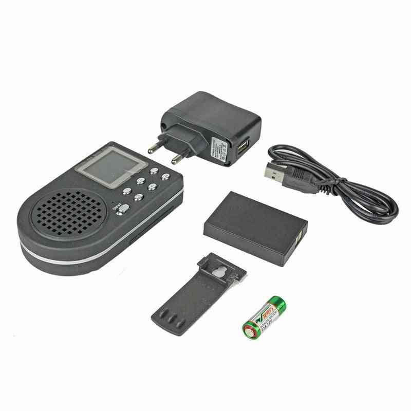 Hunting Decoy Bird Caller Portable Loudspeaker, Outdoor Lcd Display